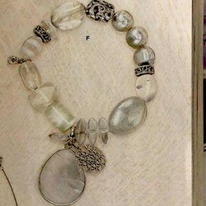 Bracelet Crystal, Glass and Sterling Silver